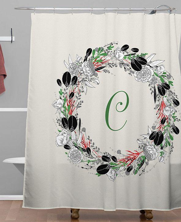Deny Designs Iveta Abolina Silver Dove Christmas C Shower Curtain