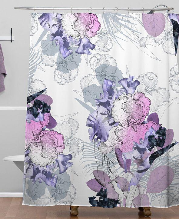 Deny Designs Iveta Abolina Iris Garden Shower Curtain
