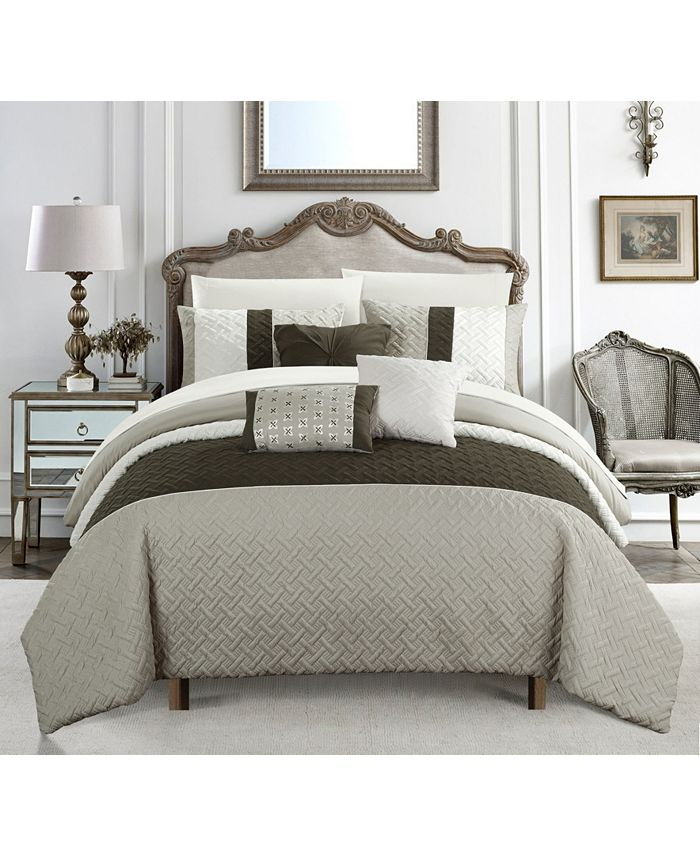 Chic Home - Osnat 10-Pc. Bed In a Bag Comforter Sets