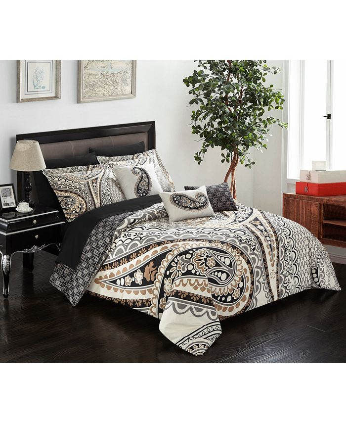 Chic Home - Del Mar 10-Pc. Queen Bed In a Bag Comforter Set