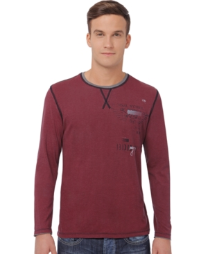 Buffalo David Bitton Long Sleeve T Shirt, Nubas
