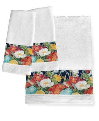 Midnight Floral Bath Towel