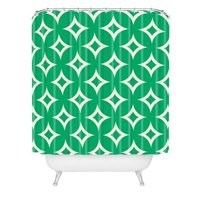 Deny Designs Holli Zollinger Emerald Diamonds Shower Curtain