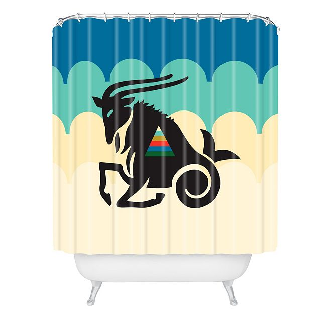 Deny Designs Holli Zollinger Zodiac Capricorn Shower Curtain