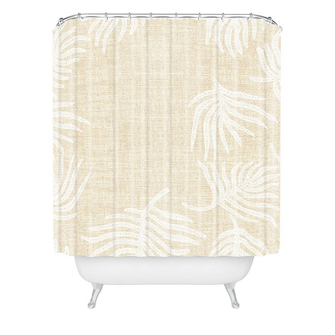 Deny Designs Holli Zollinger Palm Linen Shower Curtain