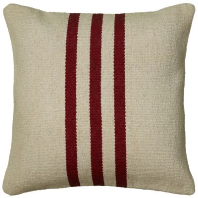 """18"""" x 18"""" Striped Poly Filled Pillow"""