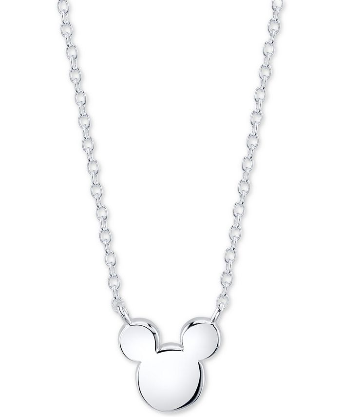 Unwritten - Mickey Mouse Head Pendant Necklace in Sterling Silver