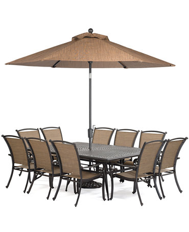 Paradise outdoor 11 piece set 84 x 60 dining table and for 11 piece dining table set