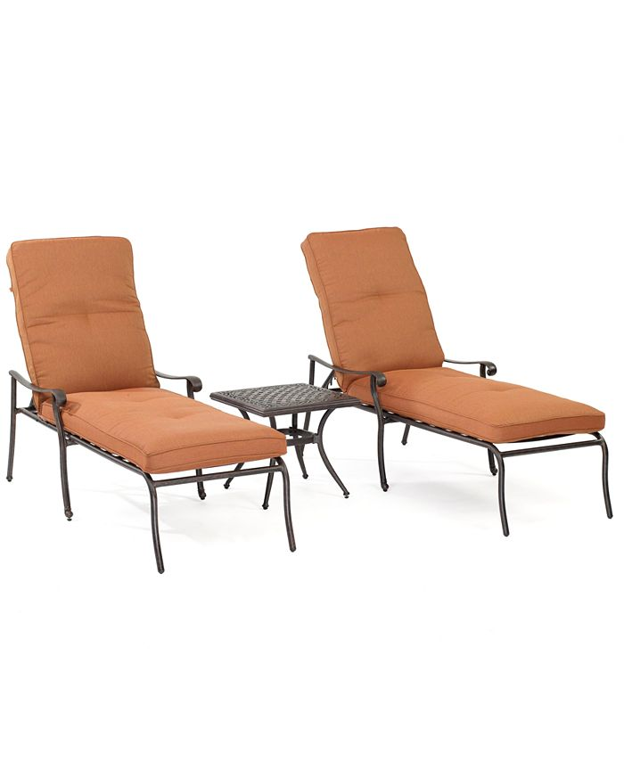 Furniture - Chateau Outdoor Patio , 3 Piece Dining Set (2 Chaise Lounges, 1 End Table)