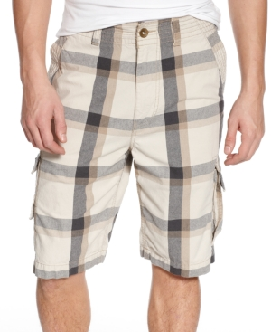 American Rag Shorts, Canvas YD Plaid Cargos