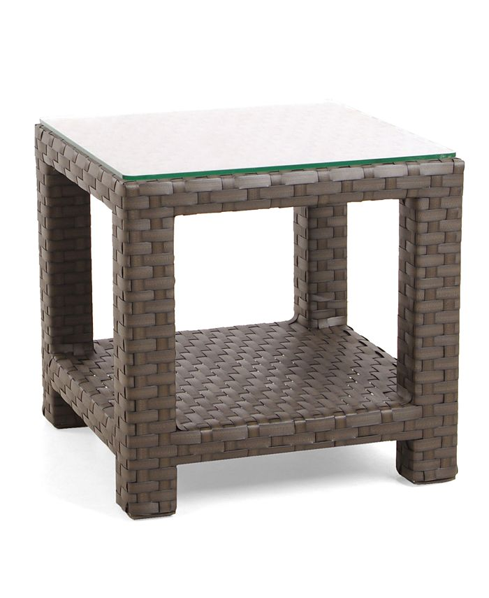 Furniture - San Lucia Wicker Outdoor End Table