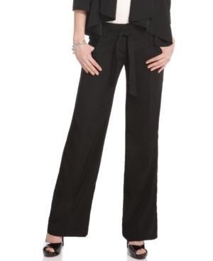 BCX Pants, Belted Wide Leg Trouser