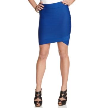 GUESS? Skirt, Striped Bandage Pencil