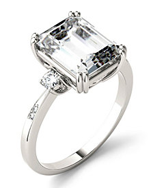 Moissanite Emerald Engagement Ring (3-3/4 ct. tw.) in 14k White Gold