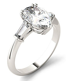 Moissanite Pear Engagement Ring (2-1/2 ct. tw. Diamond Equivalent) in 14k White Gold