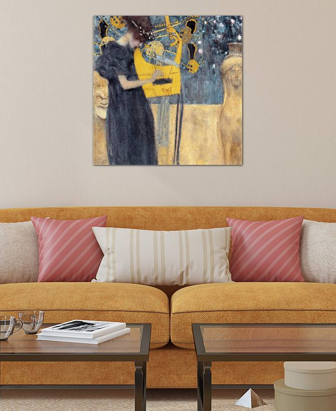 """iCanvas """"Musik 1895"""" by Gustav Klimt Gallery-Wrapped Canvas Print"""