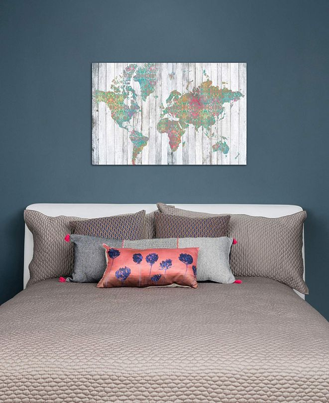 "iCanvas ""Boho Map II"" by Jennifer Goldberger Gallery-Wrapped Canvas Print"