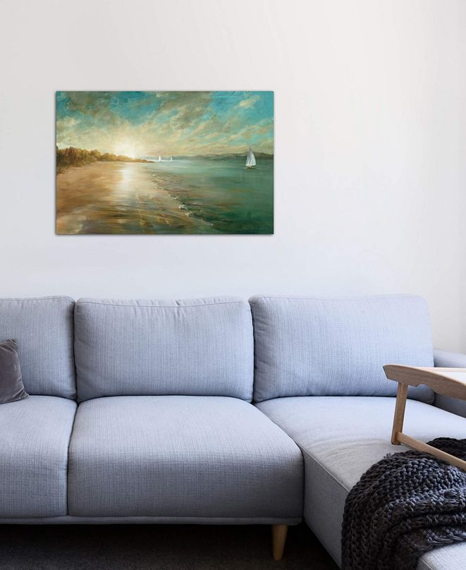 "iCanvas ""Coastal Glow"" by Danhui Nai Gallery-Wrapped Canvas Print (18 x 26 x 0.75)"