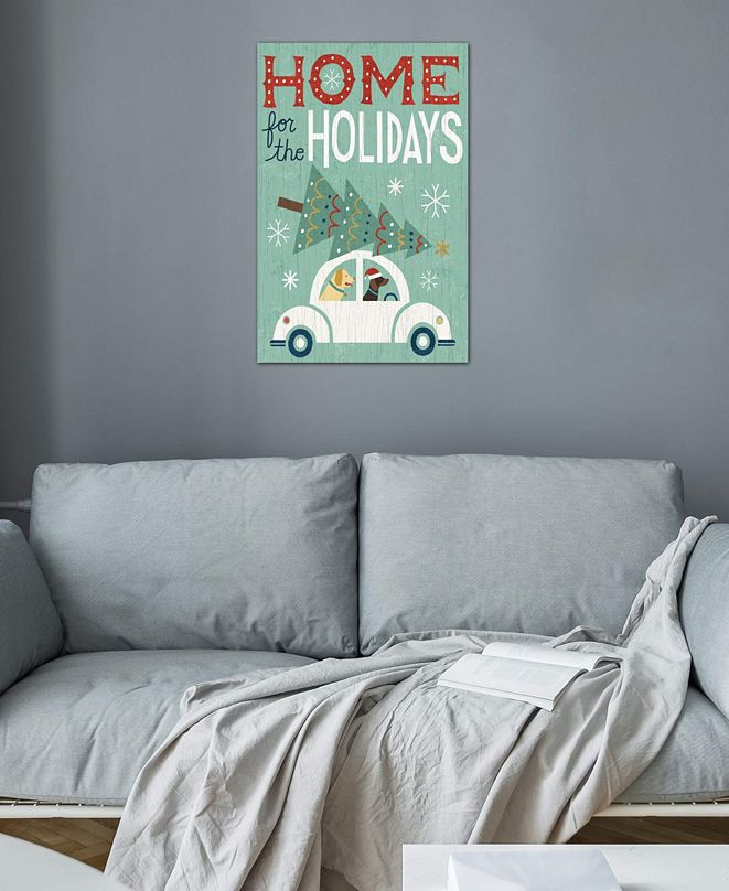 """iCanvas """"Home For The Holidays"""" by Michael Mullan Gallery-Wrapped Canvas Print (40 x 26 x 0.75)"""