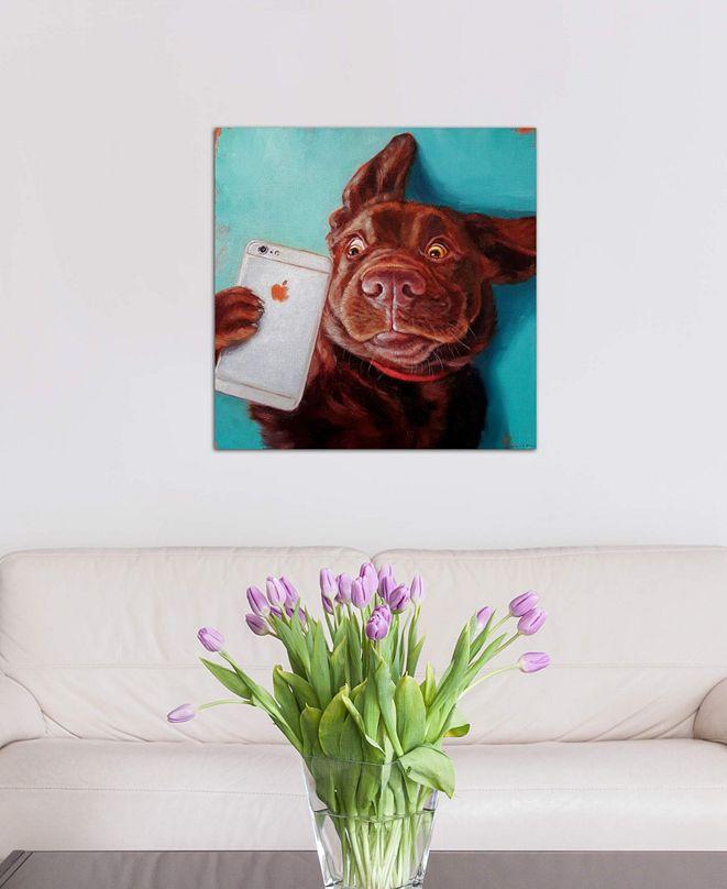 "iCanvas ""Dog Selfie"" by Lucia Heffernan Gallery-Wrapped Canvas Print (26 x 26 x 0.75)"