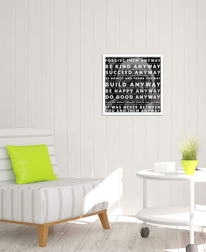"""iCanvas """"Mother Teresa Quote"""" Gallery-Wrapped Canvas Print (26 x 26 x 0.75)"""