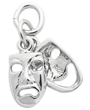 Rembrandt Charm, Sterling Silver Comedy and Tragedy Charm