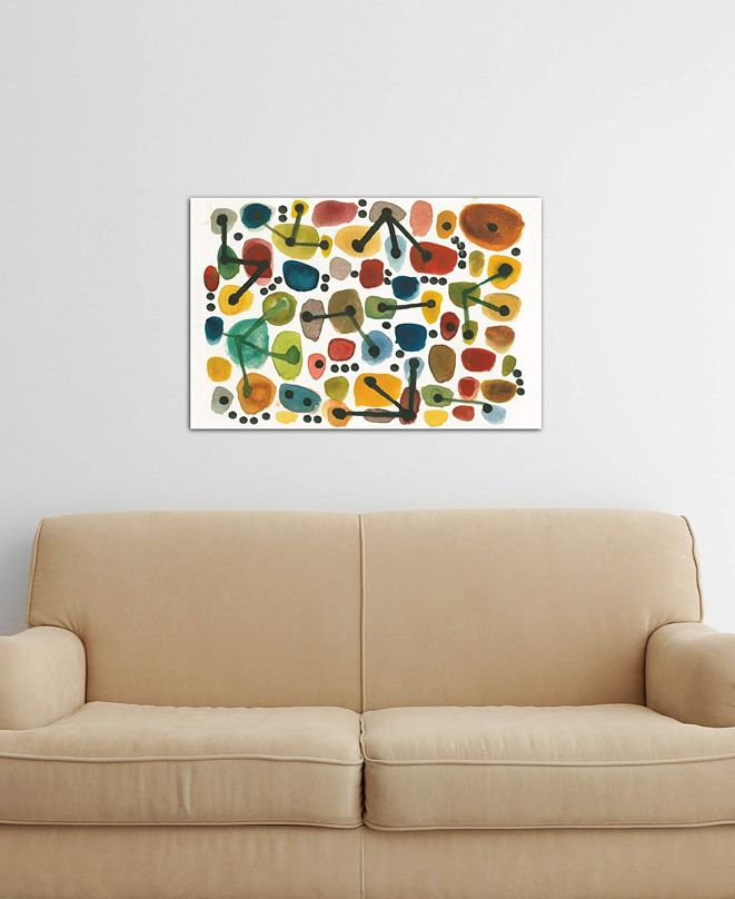 """iCanvas """"Mid Century I"""" by Cheryl Warrick Gallery-Wrapped Canvas Print (26 x 40 x 0.75)"""