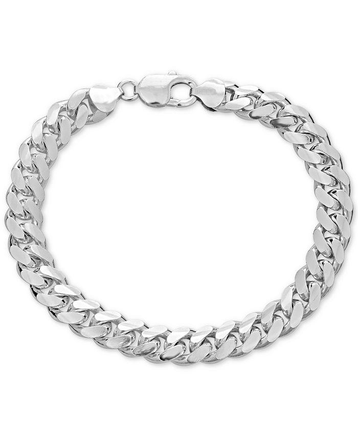 Macy's - Men's Cuban Link Chain Bracelet in Sterling Silver