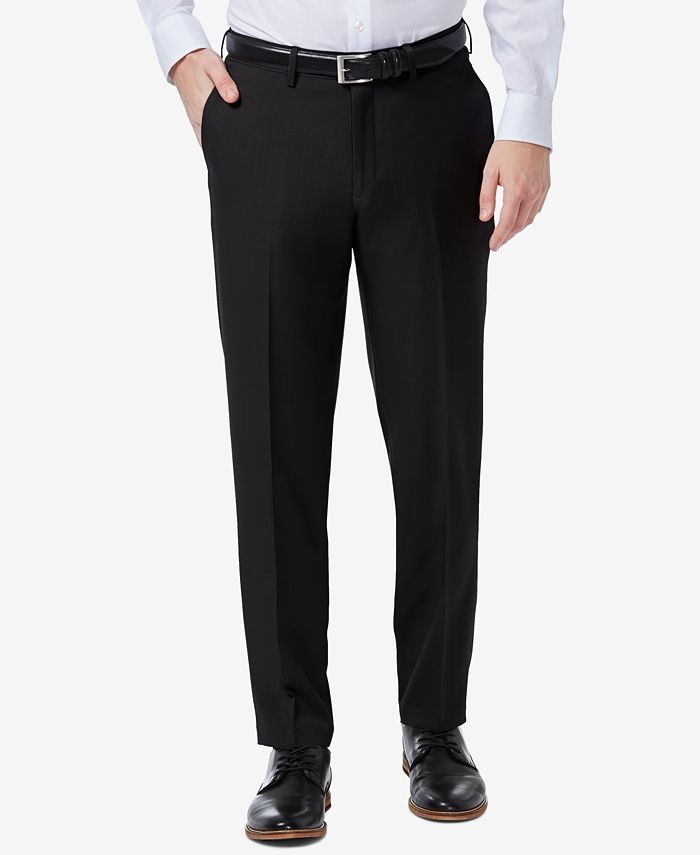 Haggar - Men's Premium Comfort Slim-Fit Performance Stretch Flat-Front Dress Pants
