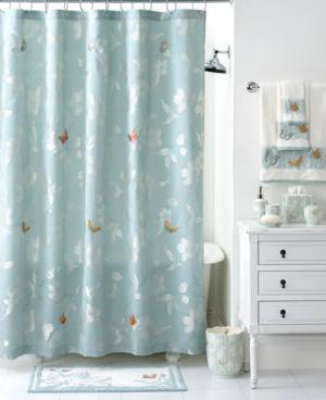Martha Stewart Collection Bath Accessories, Mariposa Shower Curtain