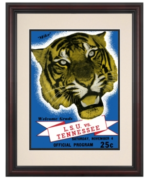 Mounted Memories Wall Art, Framed LSU vs Tennessee Football Program Cover 1939