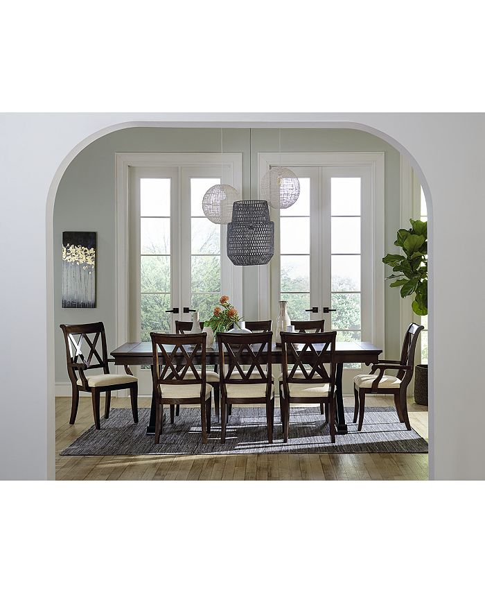 Furniture - Baker Street Dining , 9-Pc. Set (Dining Table, 6 Side Chairs & 2 Arm Chairs)