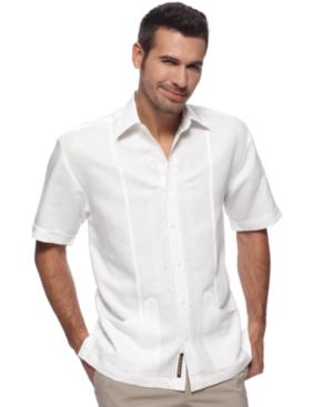 Cubavera Shirt, Short Sleeve Embroidered Shirt
