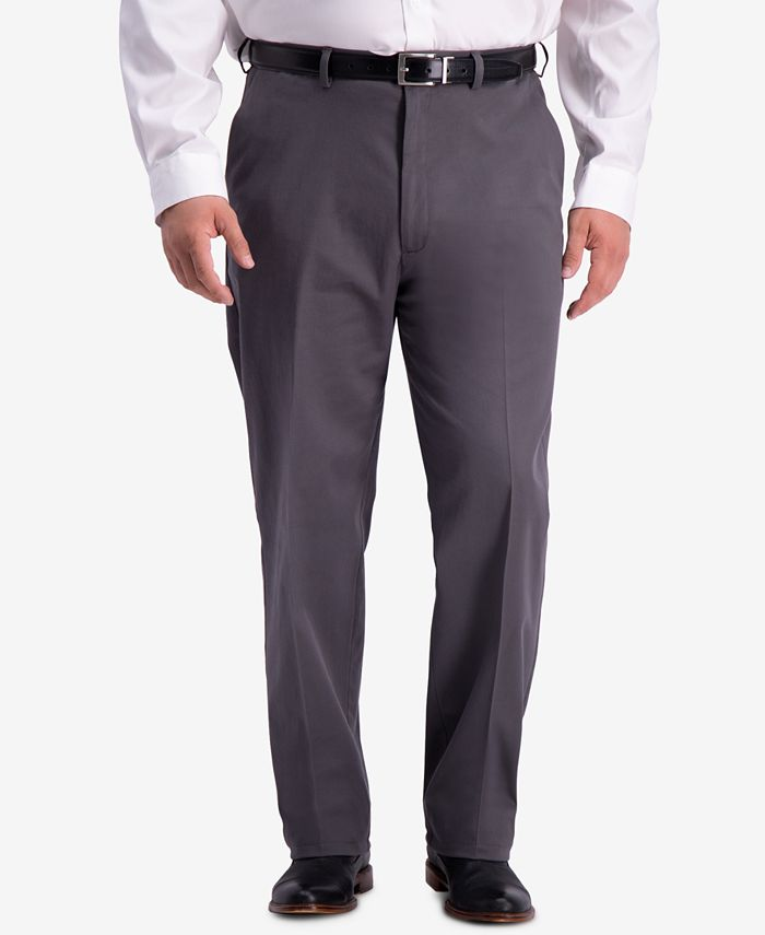 Haggar - Men's Big & Tall W2W PRO Relaxed-Fit Performance Stretch Non-Iron Flat-Front Dress Pants