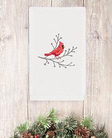 CLOSEOUT!  Linum Home Christmas Cardinal 100% Turkish Cotton Hand Towel