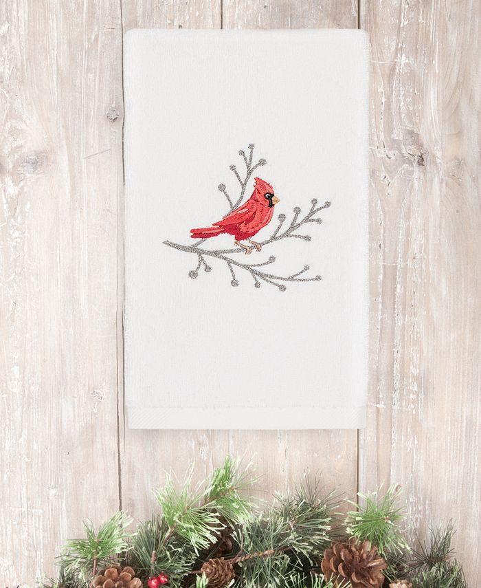 Linum Home - Christmas Cardinal 100% Turkish Cotton Hand Towel