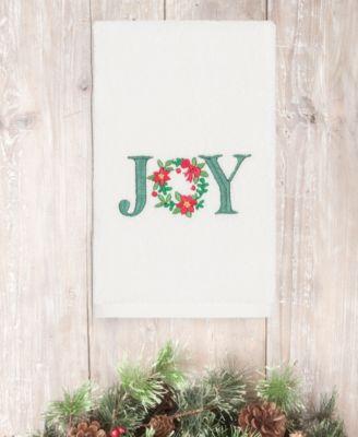 CLOSEOUT!  Christmas Joy 100% Turkish Cotton Hand Towel