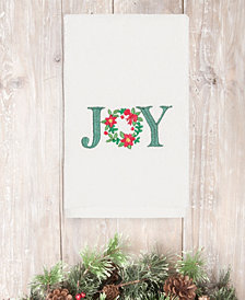 CLOSEOUT!  Linum Home Christmas Joy 100% Turkish Cotton Hand Towel