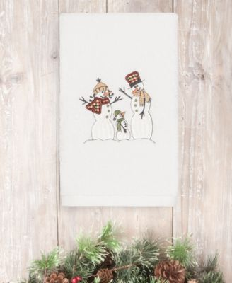 CLOSEOUT!  Christmas Snow Family 100% Turkish Cotton Hand Towel