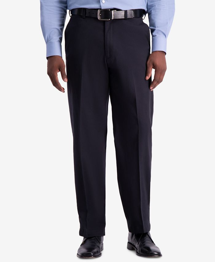 Haggar - Men's W2W PRO Relaxed-Fit Flat Front Casual Pants