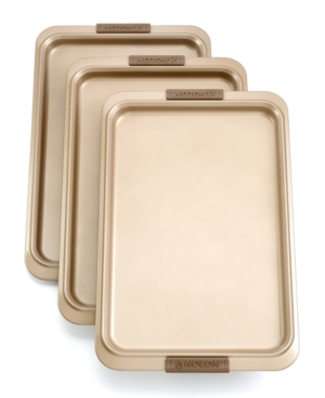 "Anolon Advanced Bronze Bakeware Cookie Sheet Set, 3 Piece 11"" x 17"""