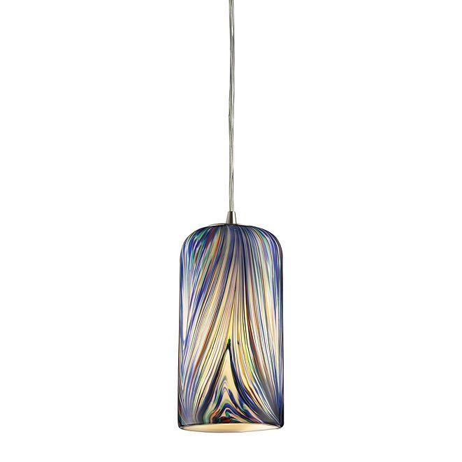 ELK Lighting Molten Collection in Molten Ocean 1 Light Pendant