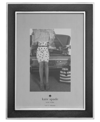 "kate spade new york Chamber's Bay Charcoal 5"" x 7"" Picture Frame"