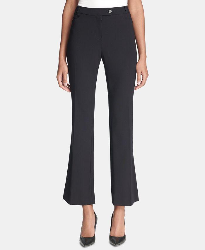 Calvin Klein - Pants, Modern Tab-Front Trousers