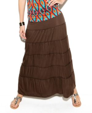 INC International Concepts Skirt, Tiered Maxi