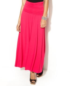 INC International Concepts Skirt, Convertible Maxi Solid Strapless Dress