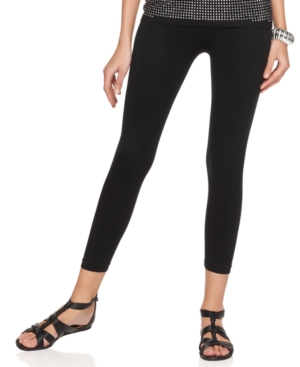 INC International Concepts Pants, Wide Waistband Cropped Leggings
