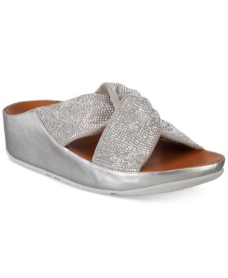 FitFlop Twiss Crystal Slide Sandals