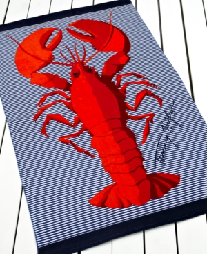 Tommy Hilfiger Towels, Classic Lobster Beach Towel