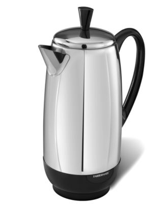 Farberware PK1200SS Percolator, Stainless Steel, 12 Cup